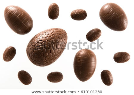 Easter chocolate eggs decorated Stock photo © adrenalina
