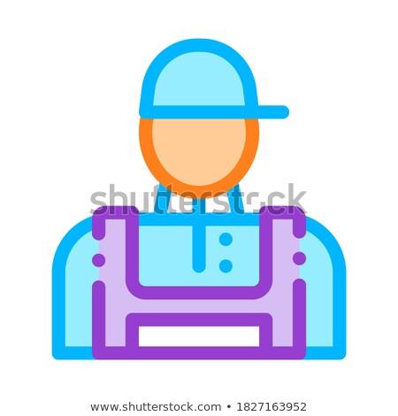 Conditioner Repairman Worker Vector Thin Line Icon Stock photo © pikepicture