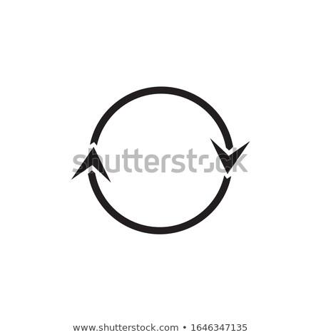 круга два Стрелки простой вращение Сток-фото © kyryloff