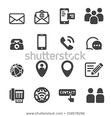 телефон электронная почта пост иконки различный Сток-фото © AndreyPopov