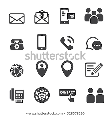 Telefone e-mail postar ícones Foto stock © AndreyPopov