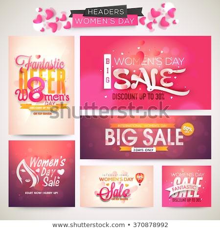 Mejor precio venta mujer promoción banner tiendas Foto stock © robuart