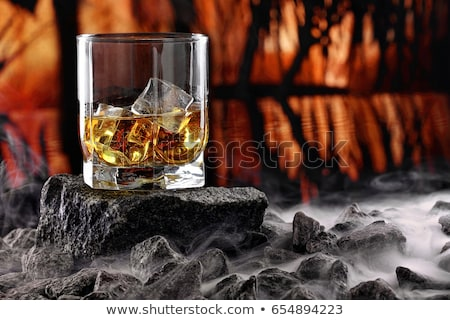 cognac with ice cubes Stock photo © tycoon
