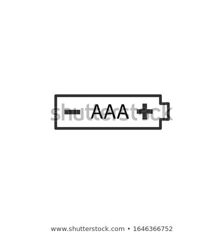 Batterij icon voorraad geïsoleerd witte mobiele Stockfoto © kyryloff