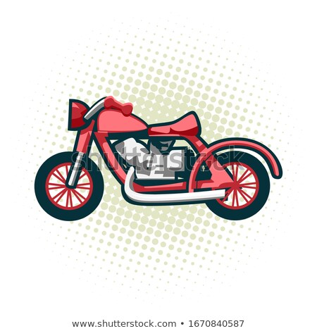 The classic retro motorcycle. This is the great example of an old racing bikes. Stock photo © Zhukow