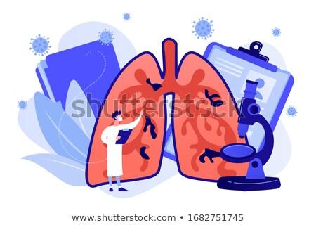 Coronavirus symptoms and artificial respiration concept vector i Stock photo © RAStudio