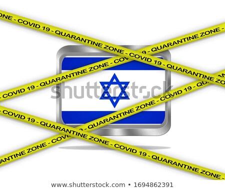 Израиль флаг иллюстрация коронавирус опасность стране Сток-фото © asturianu