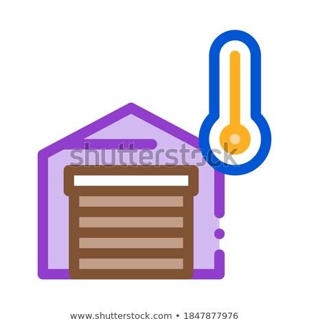 temperature measurements in garage icon vector outline illustration Stock photo © pikepicture