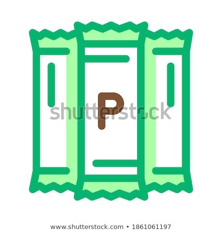 Proteína ícone vetor ilustração assinar Foto stock © pikepicture