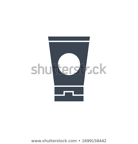 Napozókrém vektor ikon izolált fehér test Stock fotó © smoki