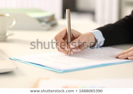 Advogado assinatura negócio contrato papel documento Foto stock © AndreyPopov