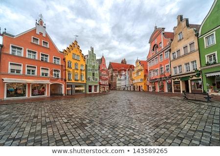Straat Duitsland historisch huizen avond stedelijke Stockfoto © borisb17