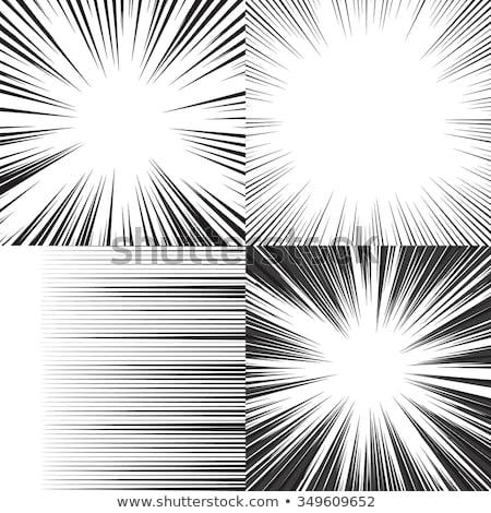 Sebesség vonalak képregény terv dizájn elem könyv Stock fotó © Ggs