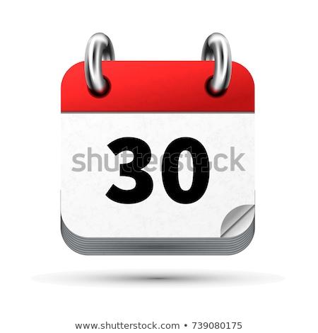 Jasne realistyczny ikona kalendarza 30 data Zdjęcia stock © evgeny89