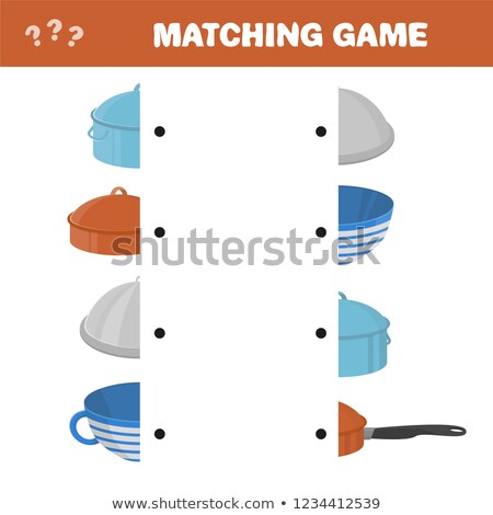 Matching game for kids. Find the right pair for each part, educational game Stock photo © natali_brill