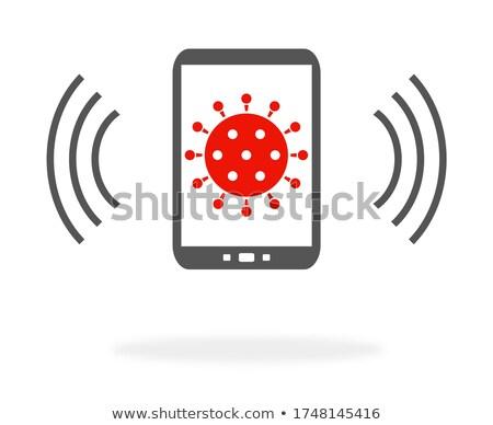 Black Smartphone Corona Virus Warning App Symbol Stock photo © limbi007