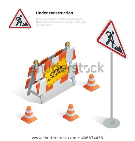 Road Cone isometric icon vector illustration Stock photo © pikepicture