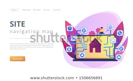 Sitemap schepping landing pagina ontwikkeling dienst Stockfoto © RAStudio