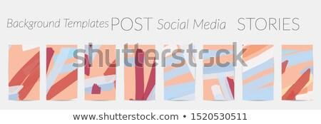 Fotoğraf kareler ayarlamak pastel renk film Stok fotoğraf © SArts
