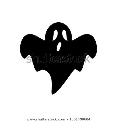 Сток-фото: Ghost · изолированный · белый · черный · оранжевый