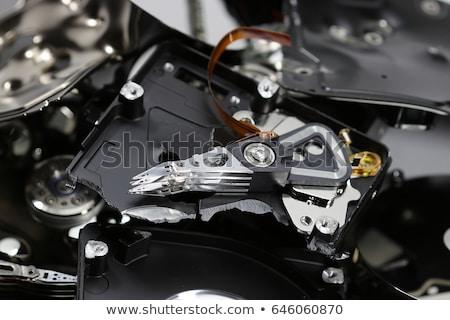 Stockfoto: Vernietigd · drive · witte · iemand · gebruikt
