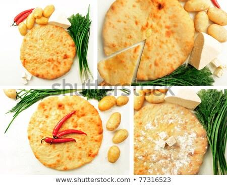 Zestaw Fotografia apetyt pie ziemniaczanej cebula Zdjęcia stock © HASLOO