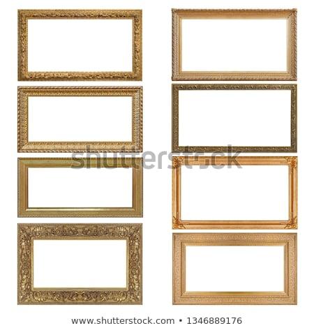 Сток-фото: кадр · фотография · багет · белый · бумаги · стены