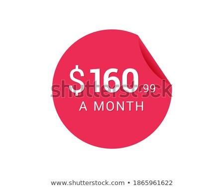Szimbólum ikonok fényes felirat ikon gombok Stock fotó © TheModernCanvas