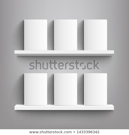 Zes boeken oude geïsoleerd witte school Stockfoto © angelsimon
