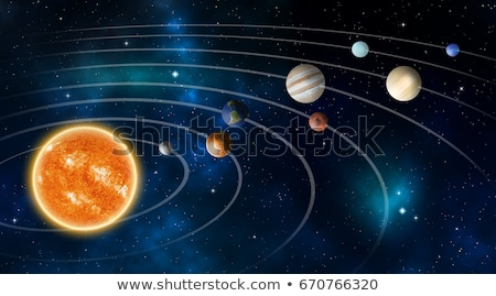 Sistema solar modelo ilustração crianças estudar escolas Foto stock © lenm