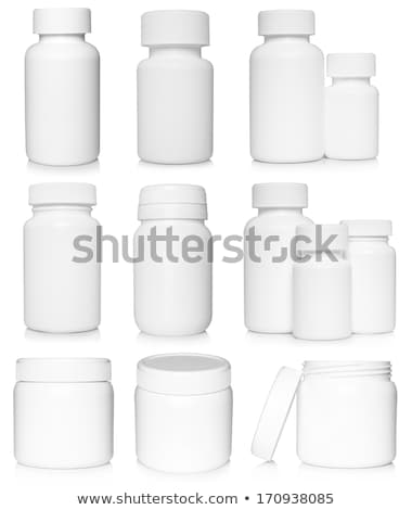 Vertical conjunto prescrição droga garrafas Foto stock © backyardproductions