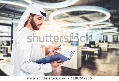 Travailleur de la construction stylo livre Homme autre Photo stock © lovleah