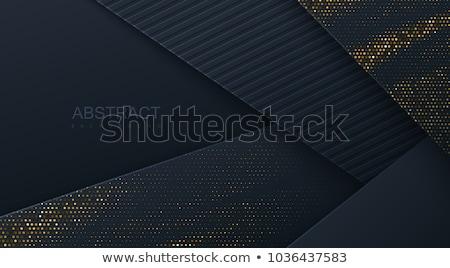Dinamik altın soyut siyah dalgalı hatları Stok fotoğraf © Artida