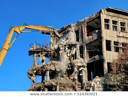 High old demolished building Stock photo © deyangeorgiev