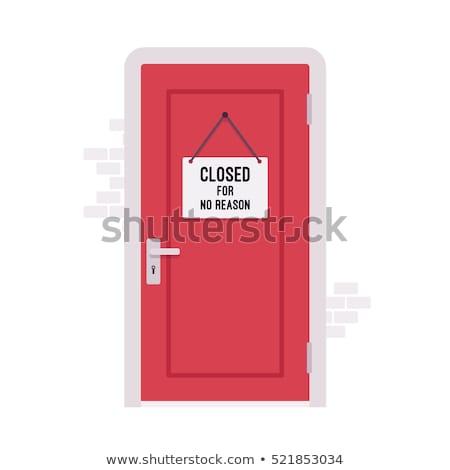 Cerrado puerta seguridad resumen casa seguridad Foto stock © AGorohov