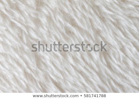 Fluffy White Fake Fur Fabric Stock photo © veralub