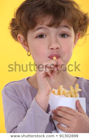 Genieten mijn vrijheid frietjes gelukkig mond Stockfoto © photography33
