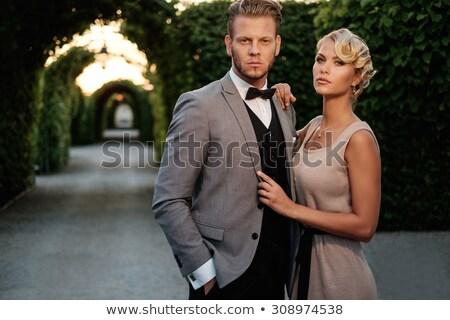 Jólöltözött pár nő arc szeretet divat Stock fotó © photography33