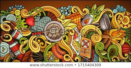 Collage Illustrating A Family Camping Holiday Stock photo © balabolka