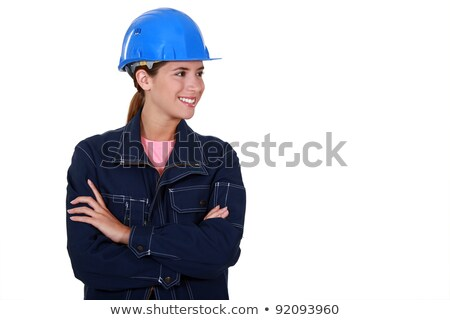 female builder stood with folded arms stock photo © photography33