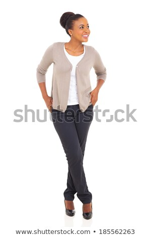 Gorgeous afrian businesswoman, full-length Stock photo © stockyimages