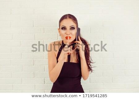 nő · csendes · tart · telefon · üzlet · telefon - stock fotó © photography33