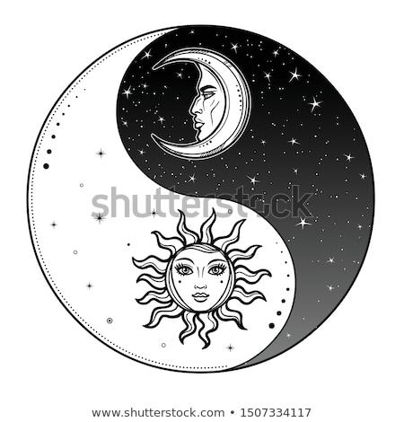 szimbólum · harmónia · egyensúly · felirat · ázsiai · vallás - stock fotó © stellis