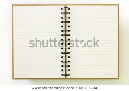 Notebook nyitva utolsó oldal izolált fehér Stock fotó © boroda