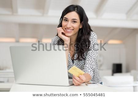 Cliente carta di credito buy computer donna Foto d'archivio © stuartmiles