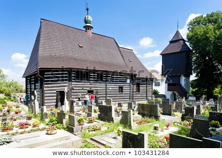 wooden church in Slavonov, Czech Republic Stock photo © phbcz