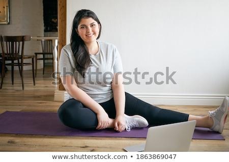 jungen · glücklich · Frau · Sport · tragen · halten - stock foto © stockyimages