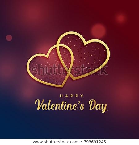 gouden · harten · decoratief · valentijnsdag · abstract · achtergrond - stockfoto © carodi