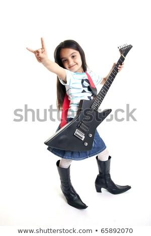 Little Cowboy Musician Stock photo © rcarner