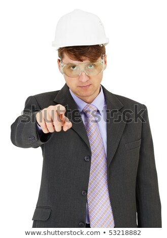 expert in safety precautions strictly points a finger stock photo © pzaxe